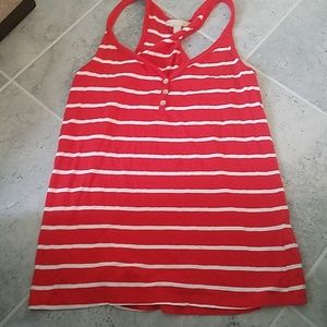 5 for 20 Banana republic red/white tank top